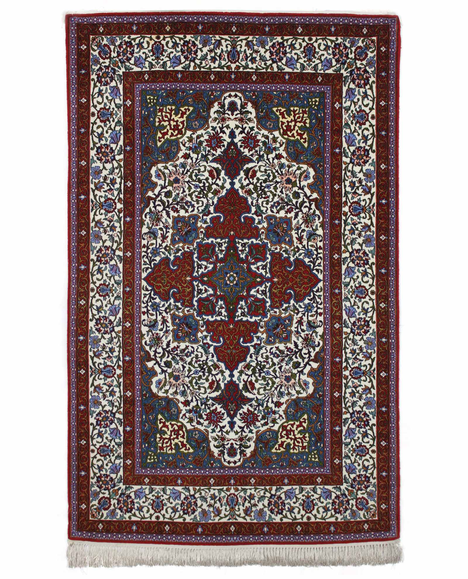 tapis persan isfahan 11083 iranian carpet. Black Bedroom Furniture Sets. Home Design Ideas