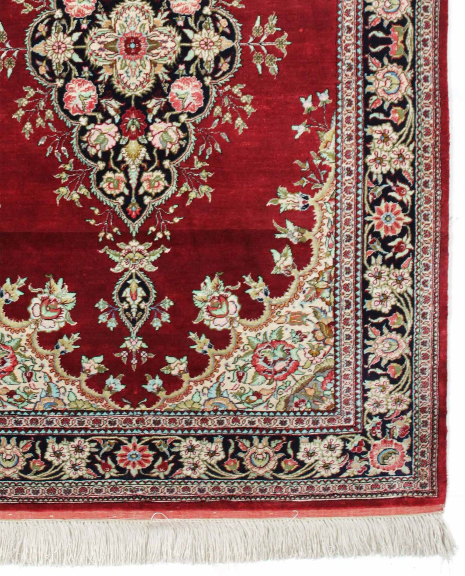 tapis persan ghom soie 15135 iranian carpet. Black Bedroom Furniture Sets. Home Design Ideas