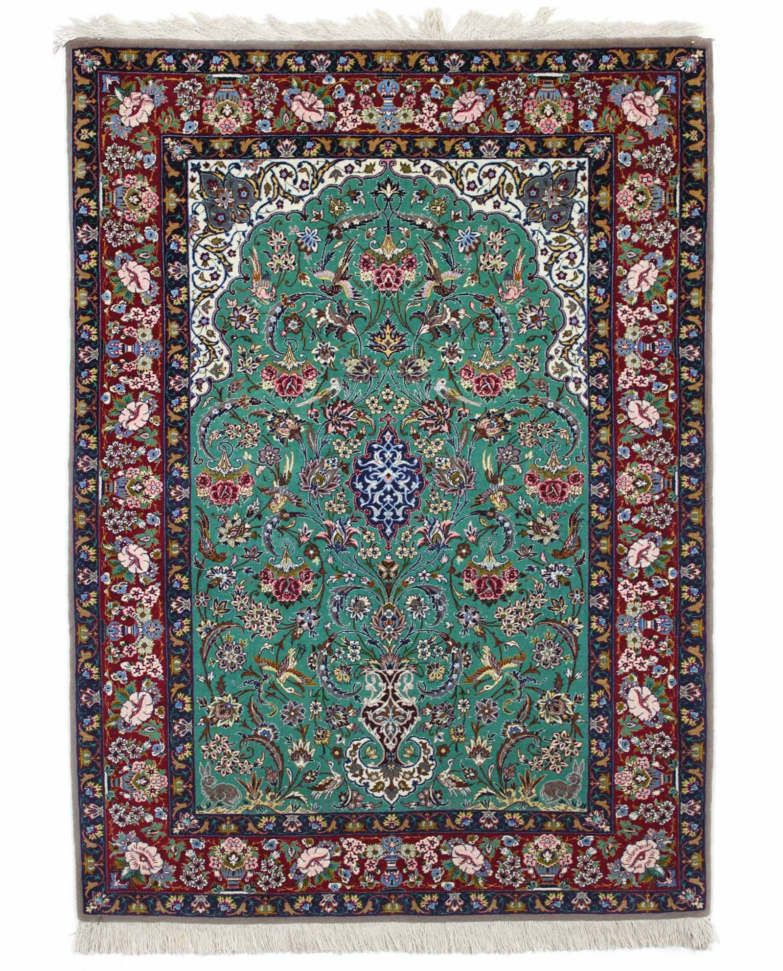 tapis persan isfahan 3214 iranian carpet. Black Bedroom Furniture Sets. Home Design Ideas
