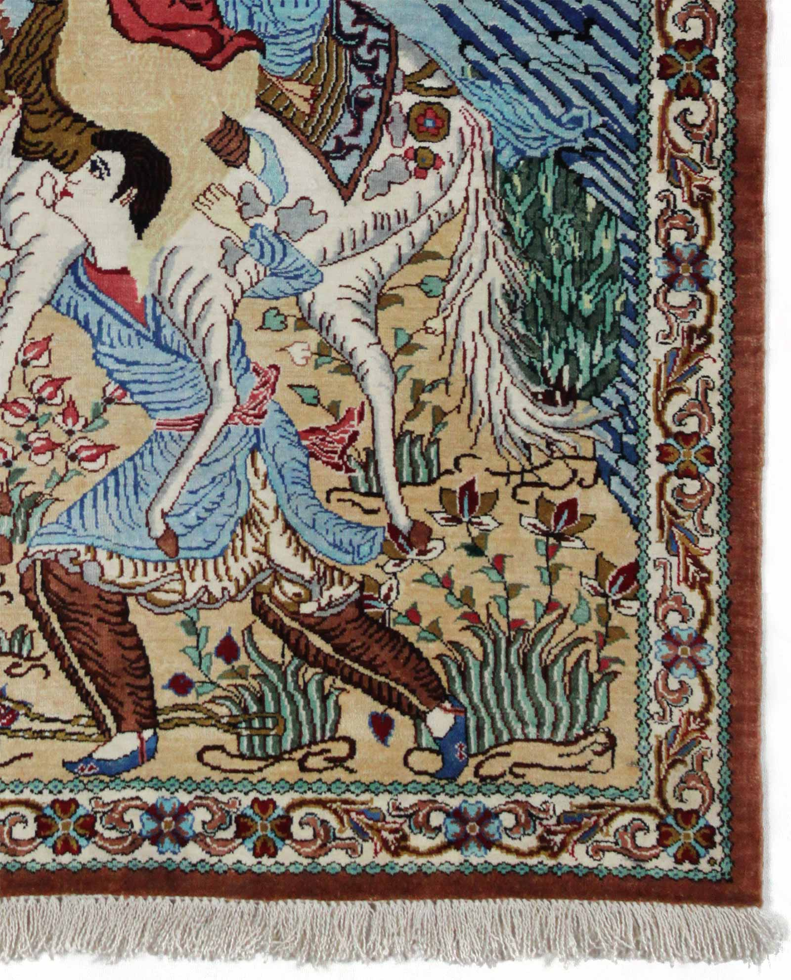 tapis persan ghom soie 9386 iranian carpet. Black Bedroom Furniture Sets. Home Design Ideas