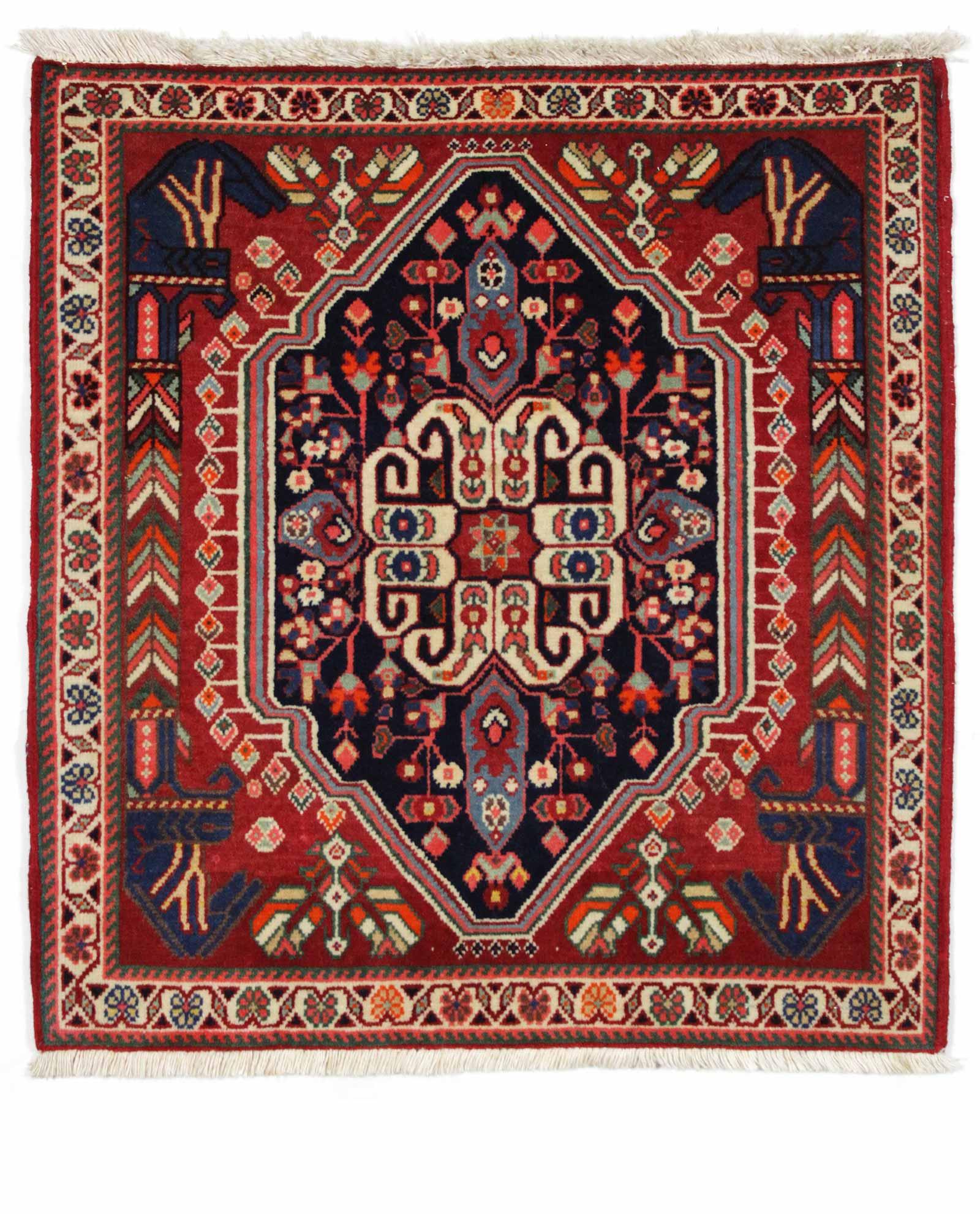 Tapis Persan Qashqai 13502 Iranian Carpet