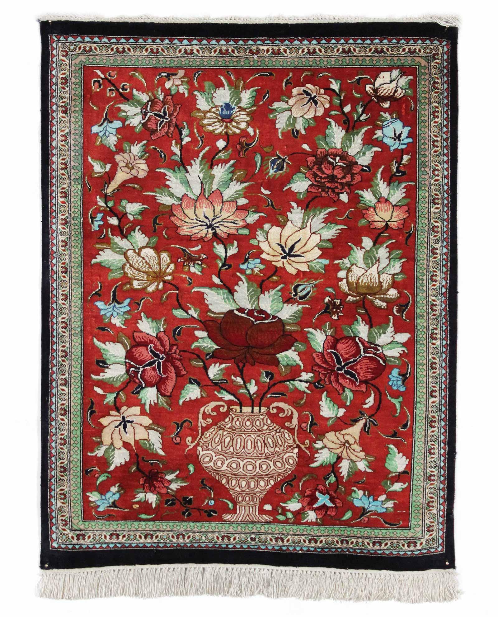 Tapis Persan Ghom Soie 14619 Iranian Carpet