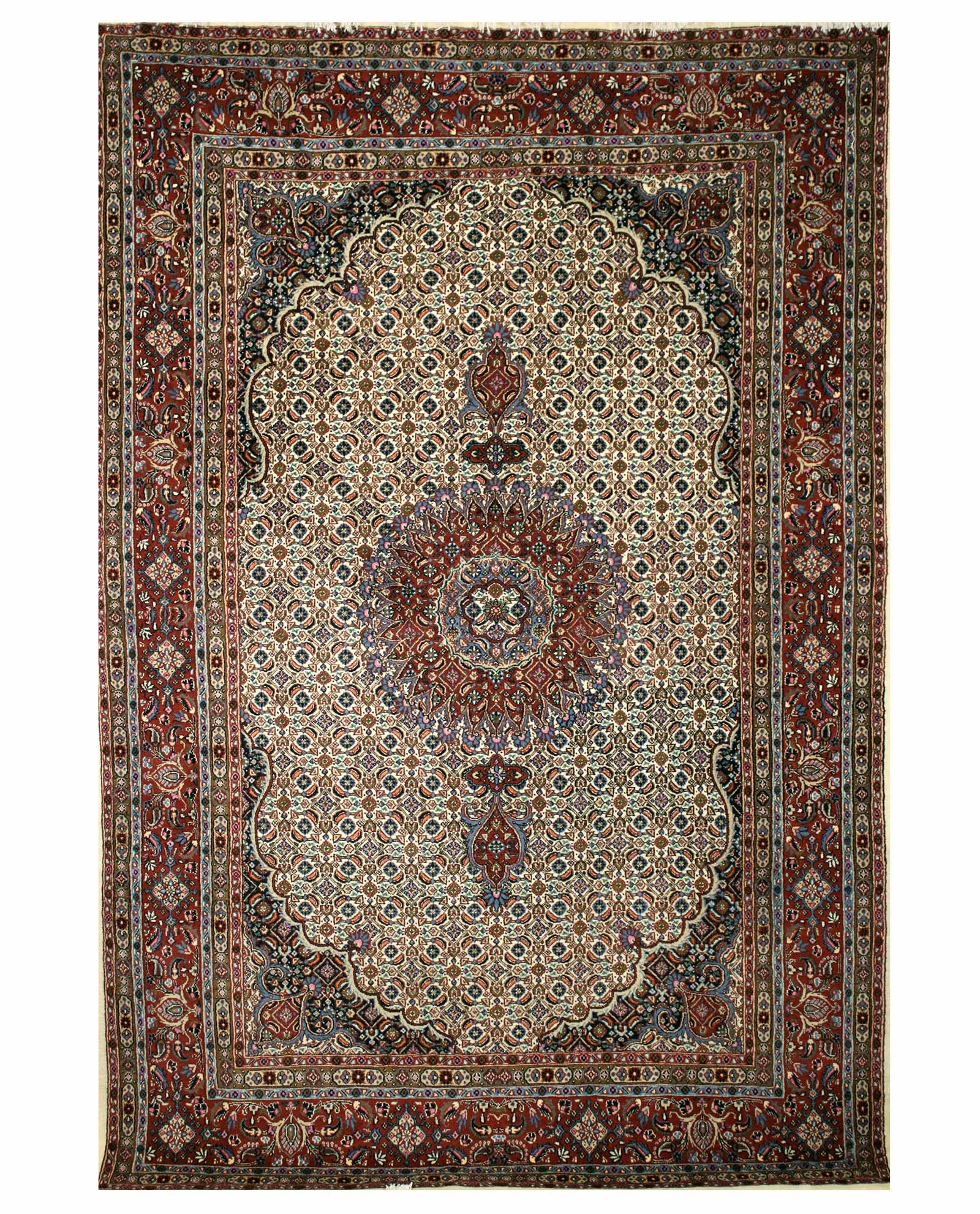 Tapis Persan Moud 14973 Iranian Carpet